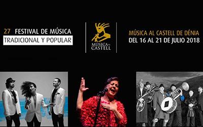 El cartell de Música al Castell: Carmen Linares cantant a…