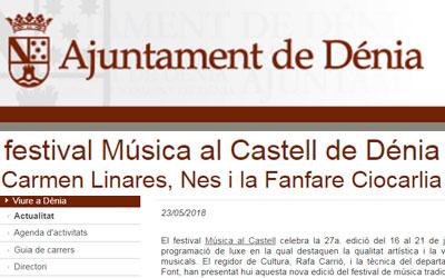 Agenda d'activitats Música al Castell 2018