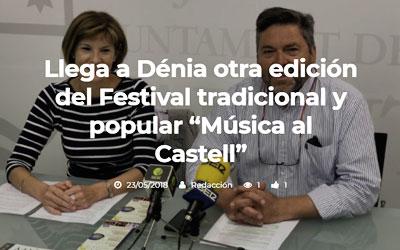 Llega a Dénia otra edición del Festival tradicional y popular