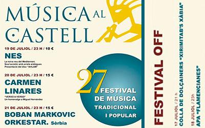 Programación del Festival Música al Castell -Dénia-